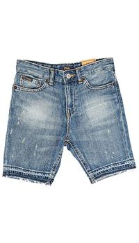 Джинсовые шорты Polo Ralph Lauren с эффектом потертостей, фото