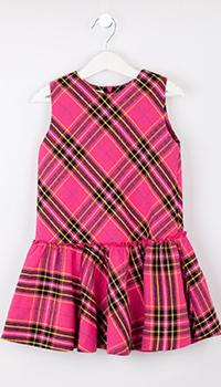 Розовое детское платье Elsy в клетку, фото