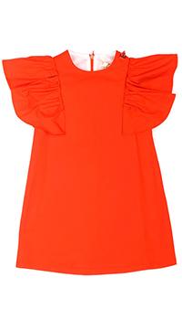 Детское платье Elisabetta Franchi красного цвета с коротким рукавом, фото