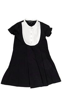Темно-синее платье Emporio Armani с белой вставкой, фото
