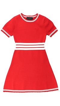 Красное платье Emporio Armani с белыми полосками, фото