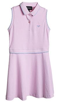 Розовое платье Emporio Armani для девочки, фото