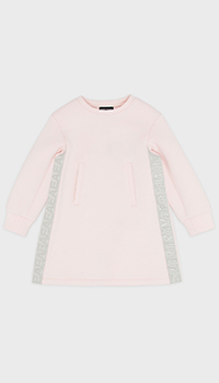 Детское платье Emporio Armani светло-розового цвета, фото