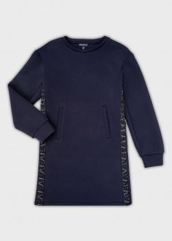 Синее платье Emporio Armani для девочек, фото