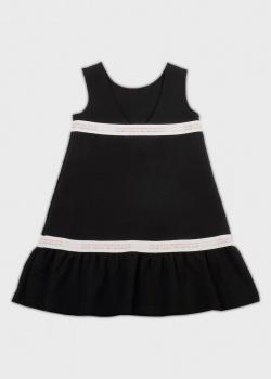 Платье для девочек EA7 Emporio Armani черного цвета, фото