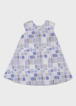 Детское платье Emporio Armani с геометрическим принтом, фото
