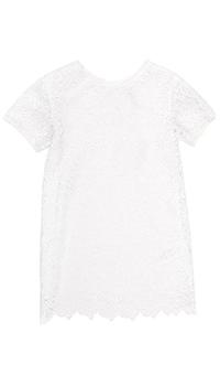 Белое платье Ermanno Scervino с кружевом, фото