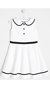 Белое детское платье Jacadi с воротником, фото