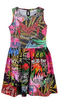 Платье Philipp Plein с растительным принтом, фото