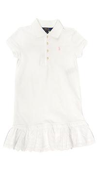 Белое платье Polo Ralph Lauren с воротничком, фото