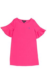 Платье трикотажное Polo Ralph Lauren с коротким рукавом, фото
