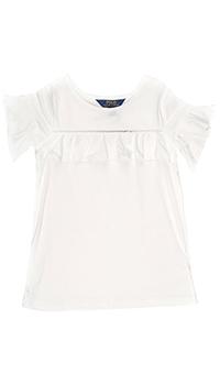 Свободное платье Polo Ralph Lauren белого цвета, фото