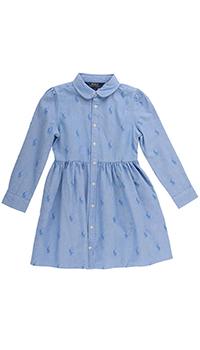 Платье-рубашка Polo Ralph Lauren с фирменным принтом, фото