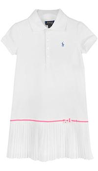 Белое платье Polo Ralph Lauren с бантиком, фото