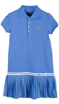 Платье Polo Ralph Lauren голубого цвета, фото