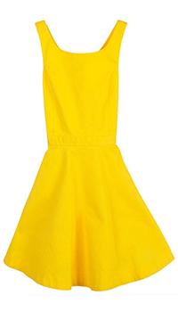 Желтое платье Polo Ralph Lauren с открытой спиной, фото