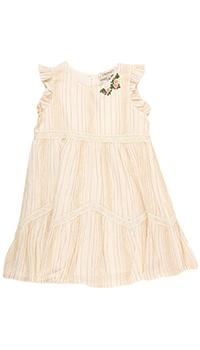 Платье персикового цвета Twin-Set с цветами, фото