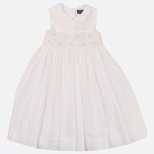 Детское платье Polo Ralph Lauren белого цвета, фото