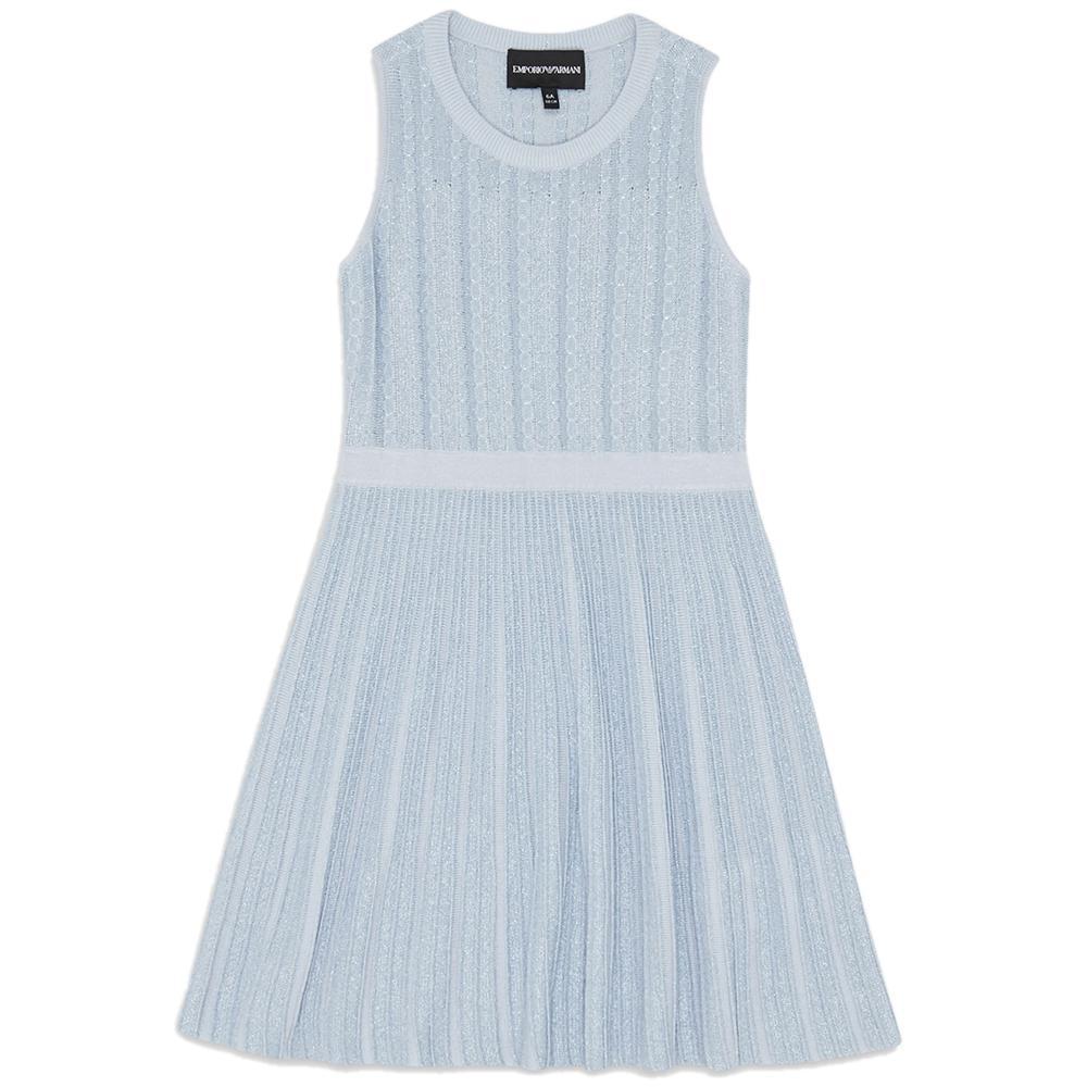 Платье Emporio Armani голубого цвета