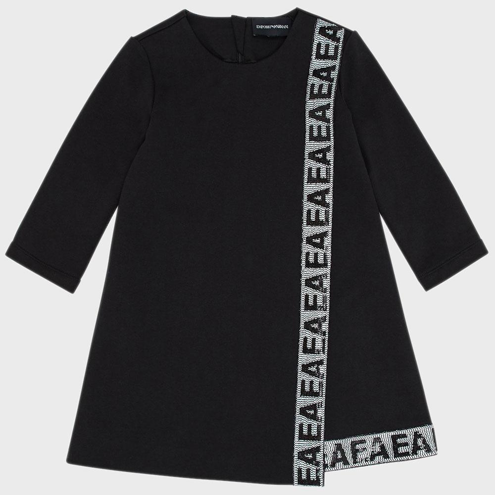 Платье с пайетками Emporio Armani для девочек