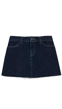 Джинсовая юбка Kenzo с логотипом для девочки, фото