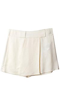 Бежевая юбка-шорты Emporio Armani для девочек, фото