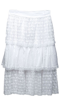 Кружевная юбка Ermanno Scervino белого цвета, фото