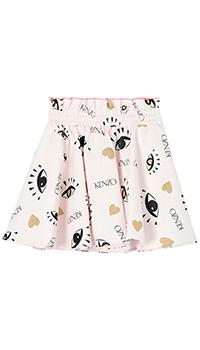 Расклешенная юбка Kenzo розового цвета, фото