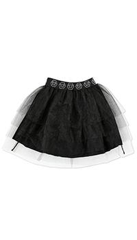Пышная юбка Philipp Plein черного цвета, фото