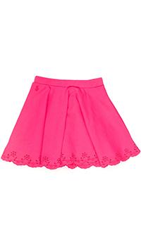 Розовая юбка Polo Ralph Lauren с цветами на подоле, фото