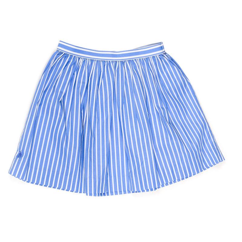 Голубая юбка Polo Ralph Lauren в вертикальную полоску