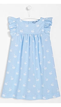 Голубая ночная рубашка Jacadi для девочек, фото