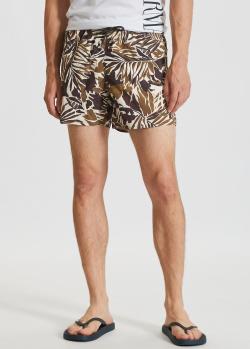 Плавательные шорты Emporio Armani с растительным принтом, фото