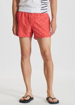 Пляжные шорты Emporio Armani кораллового цвета, фото