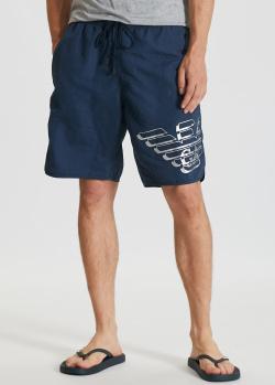 Пляжные шорты Emporio Armani с брендовым орлом, фото