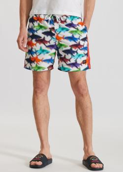 Пляжные шорты Paul&Shark с разноцветным принтом, фото