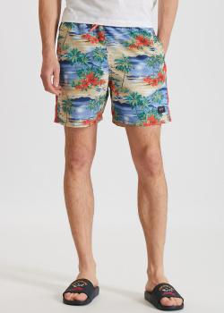 Пляжные шорты Paul&Shark с ярким принтом, фото