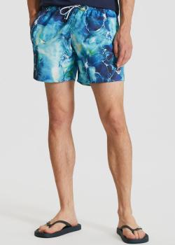 Голубые шорты Emporio Armani для плаванья, фото