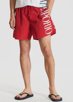 Плавательные шорты Emporio Armani красного цвета, фото