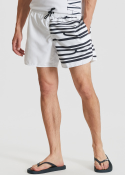 Пляжные шорты Emporio Armani с логотипом, фото