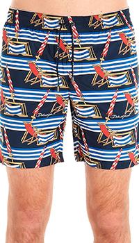 Пляжные шорты Dolce&Gabbana с принтом из лежаков, фото