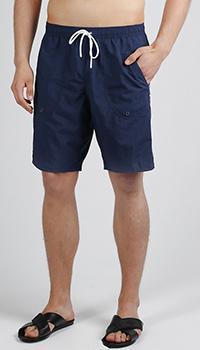 Плавательные шорты Emporio Armani с белой надписью, фото