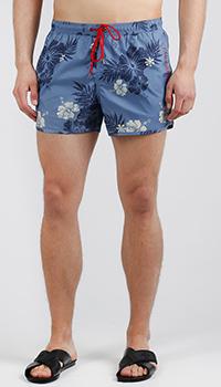 Пляжные шорты Emporio Armani синего цвета, фото