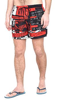Принтованные шорты Dsquared2 черного цвета, фото