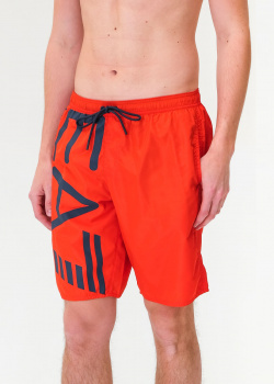 Пляжные шорты EA7 Emporio Armani с крупным лого, фото