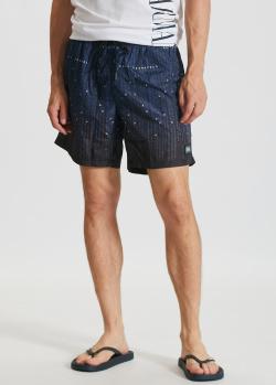 Пляжные шорты Karl Lagerfeld с буквенным принтом, фото