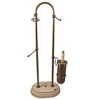 Стойка для туалетных принадлежностей Capanni из дерева и латуни, фото