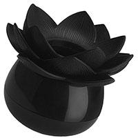 Подставка для ватных палочек Qualy Lotus Cotton Bud черного цвета, фото