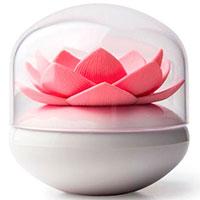 Подставка для ватных палочек Qualy Lotus Cotton Bud белая с розовым, фото