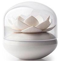 Подставка для ватных палочек Qualy Lotus Cotton Bud белого цвета, фото